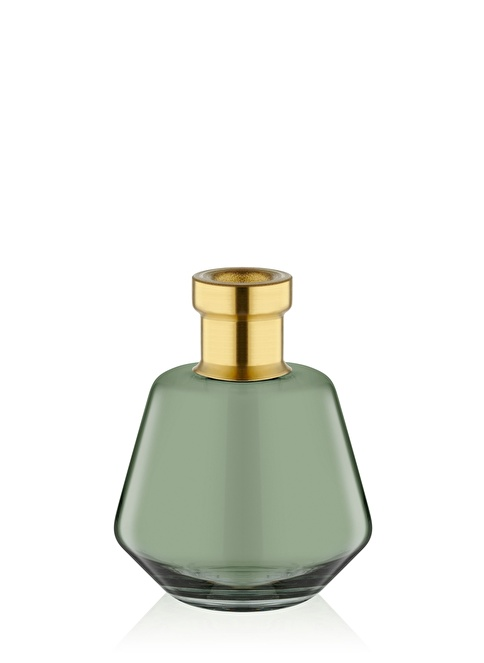 The Mia Cam Vazo Yeşil Gold Dekorlu 17*13 Cm Altın